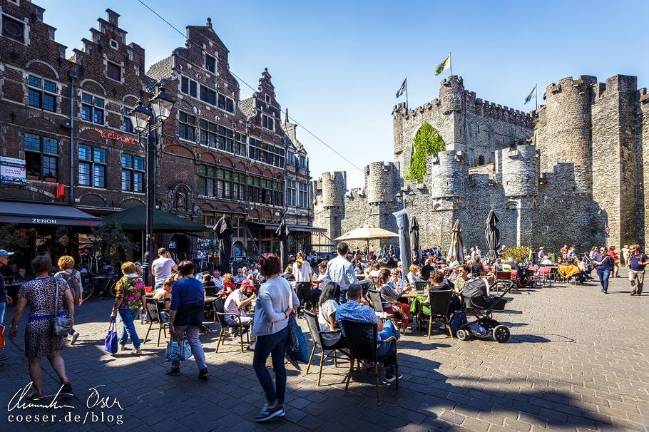 Sint-Veerleplein und Burg Gravensteen in Gent