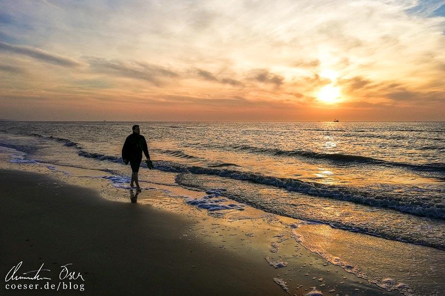 Sonnenuntergang am Meer in Ostende
