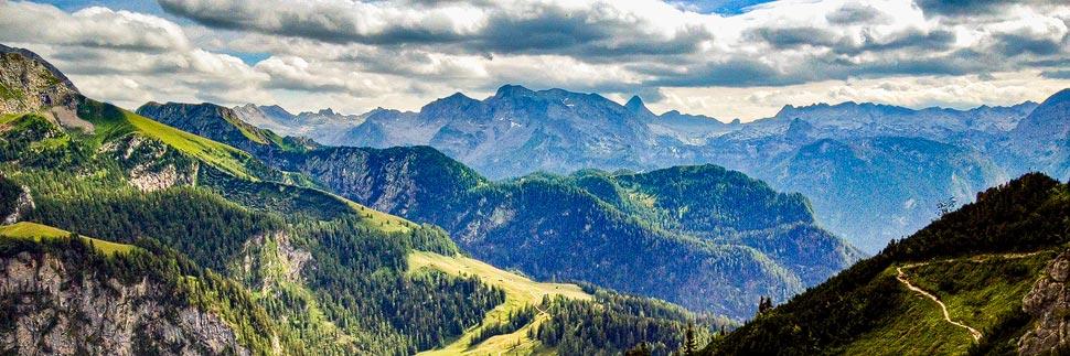 Aussicht vom Gipfel des Jenner auf die umliegende Bergwelt