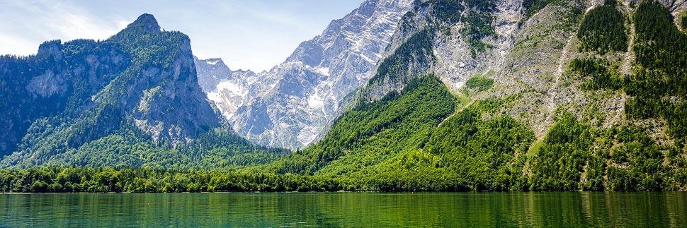 Das Watzmann-Gebirge und der Königssee