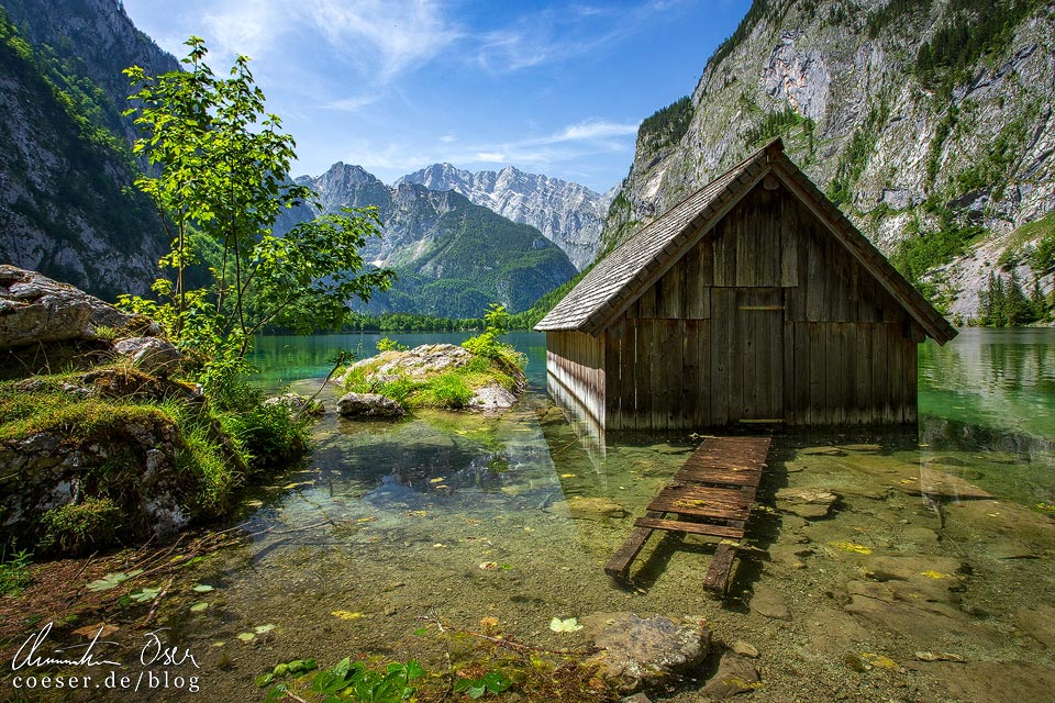 Bootshütte am Obersee beim Königssee