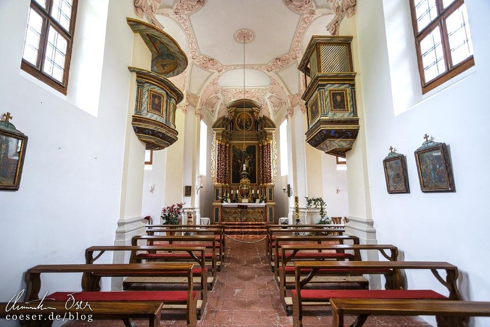 Innenansicht der Wallfahrtskirche St. Bartholomä am Königssee