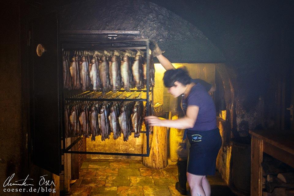 Geräucherte Saiblingsfilets in der Königssee-Fischerei