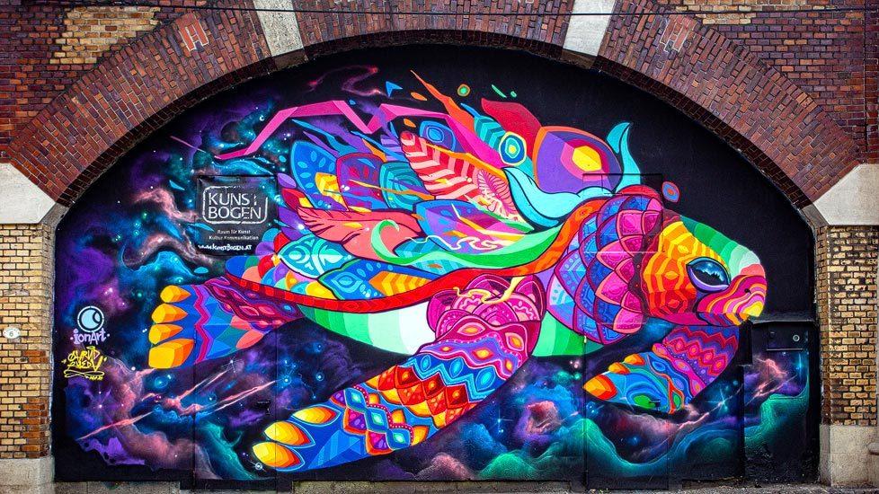 Street Art Mural von Farid Rueda in Wien