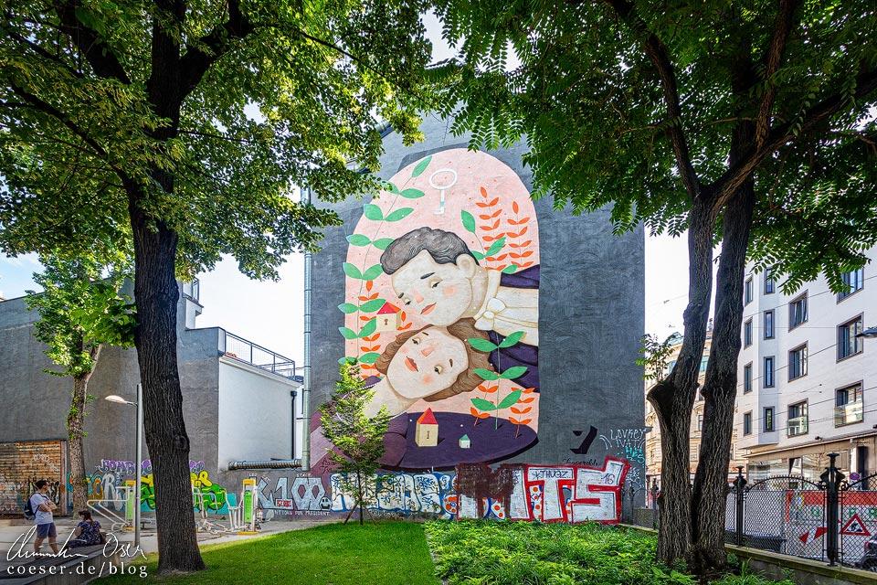 Mural von Frau Isa in Wien