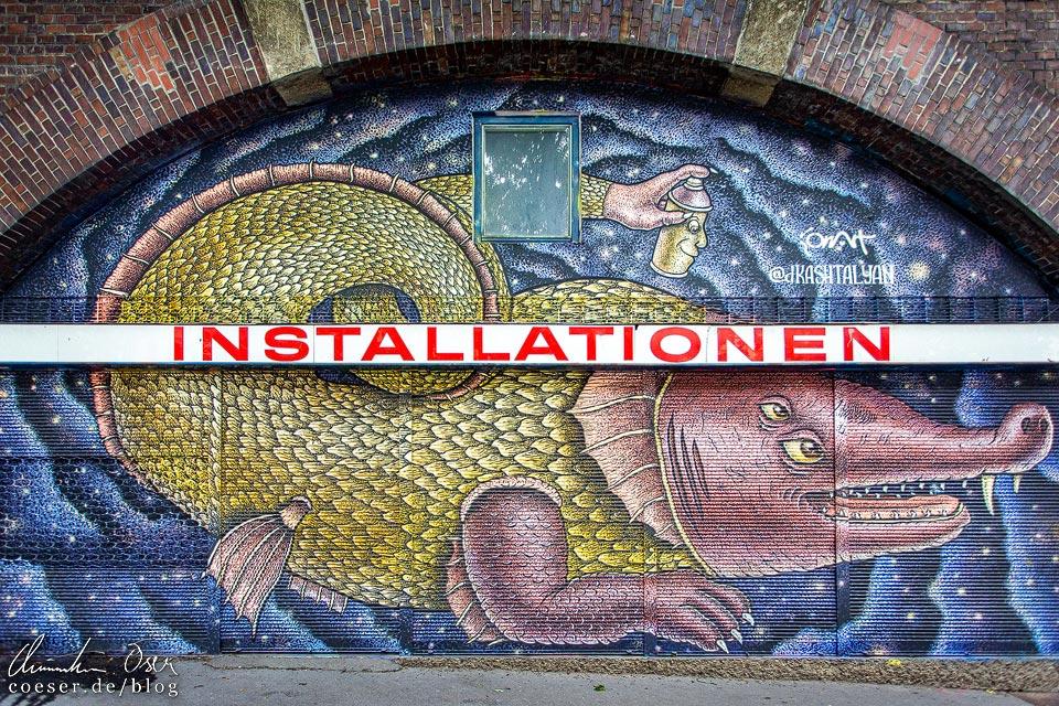 Mural von Dima Kashtalyan in Wien