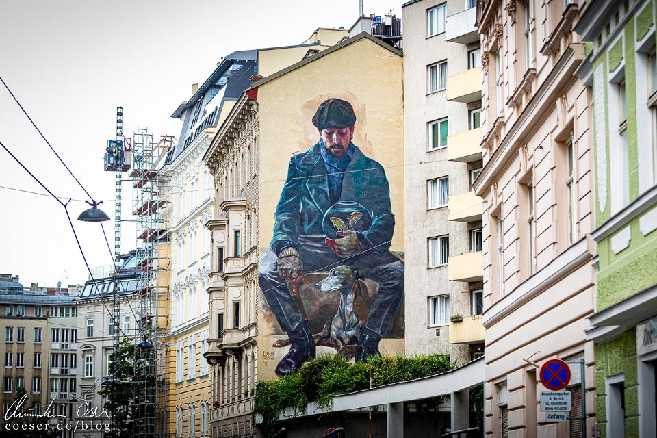 Mural von EVOCA1 in Wien