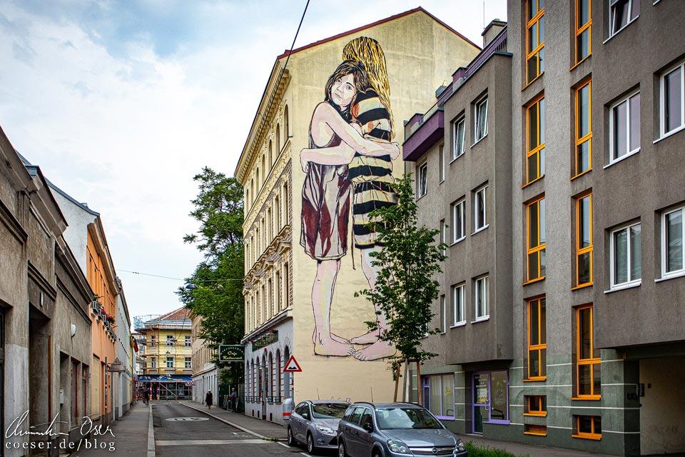 Mural von Jana & JS in Wien