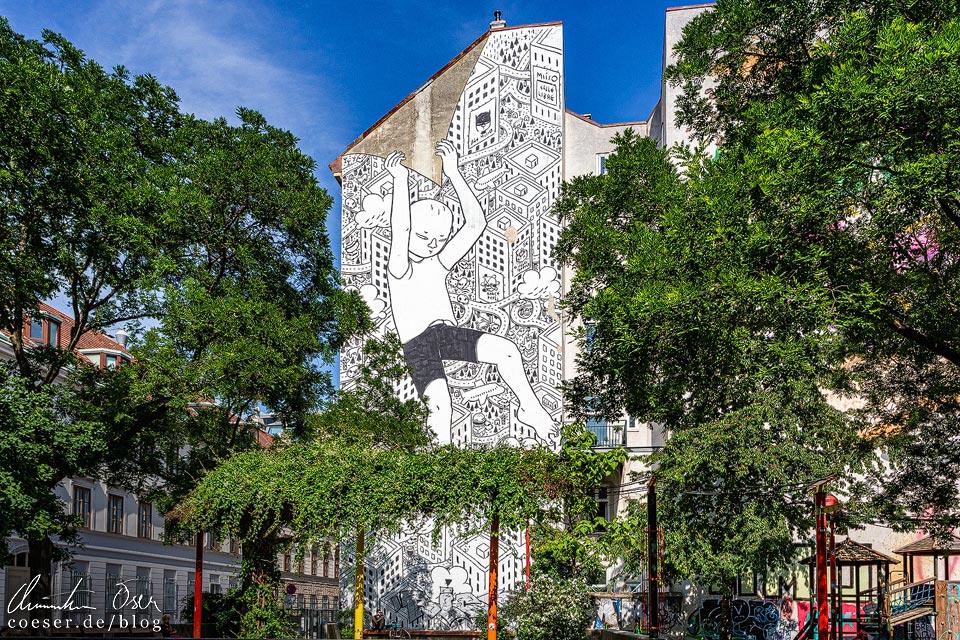 Mural von Millo in Wien