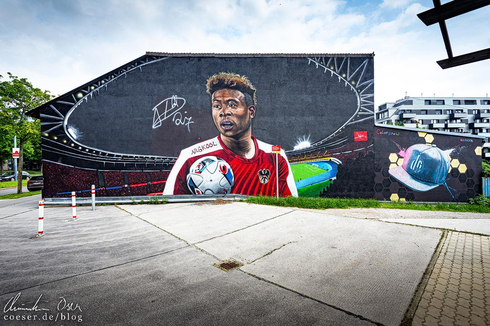 Mural David Alaba von Naskool in Wien