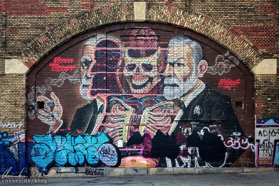 Mural von Nychos in Wien