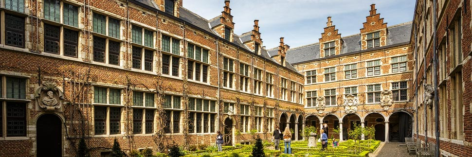 UNESCO-Innenhof des Plantin-Moretus-Museum in Antwerpen