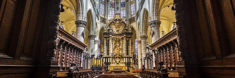 Innenansicht der Sint-Jacobskerk in Antwerpen