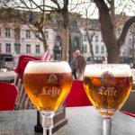 Bierpause mit Leffe im Cafe Kleine Tunnel in Antwerpen