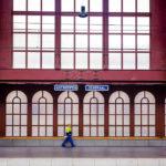 Detailansicht des Hauptbahnhofs Antwerpen-Centraal