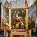 """Rubens-Gemälde """"Die Kreuzaufrichtung"""" in der Liebfrauenkathedrale in Antwerpen"""