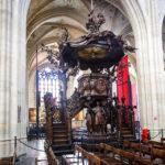 Die Kanzel in der Liebfrauenkathedrale in Antwerpen