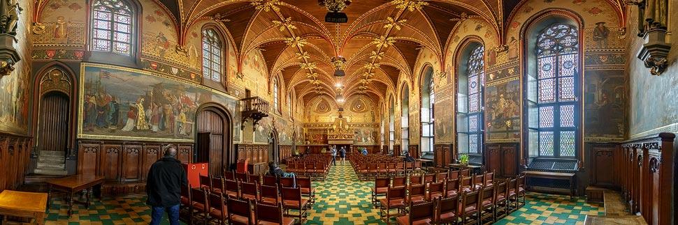 Gotischer Saal im Rathaus (Stadhuis) von Brügge