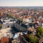 Aussicht vom Belfried auf den Burgplatz von Brügge