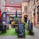 Innenhof der Brauerei Bourgogne des Flandres in Brügge