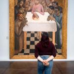 Gemälde Das letzte Abendmahl von Gustave van de Woestyne im Groeningemuseum