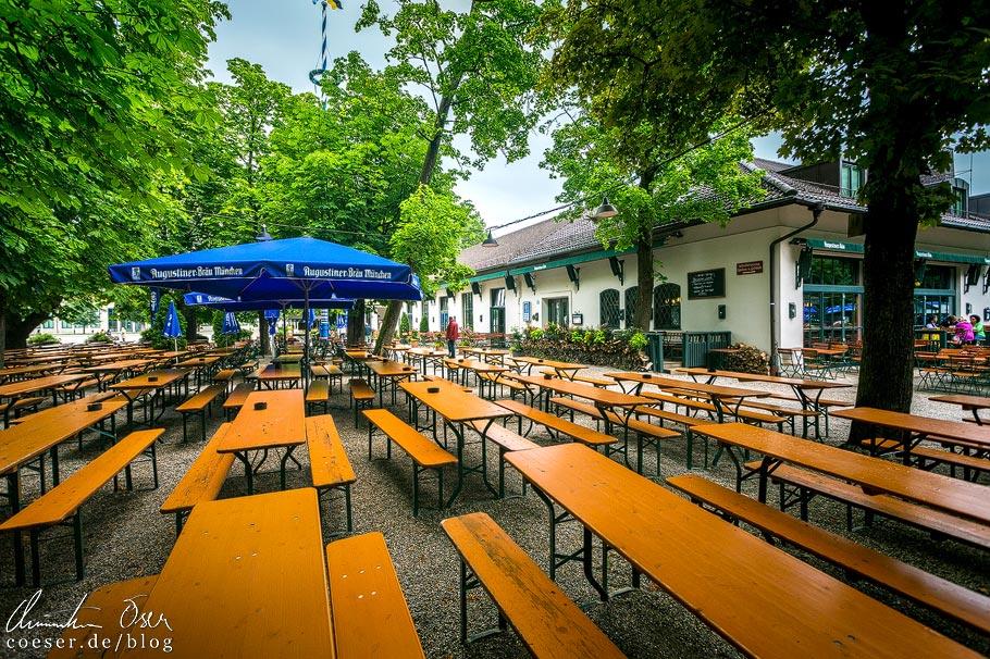 Biergarten im Wirtshaus am Bavariapark in München