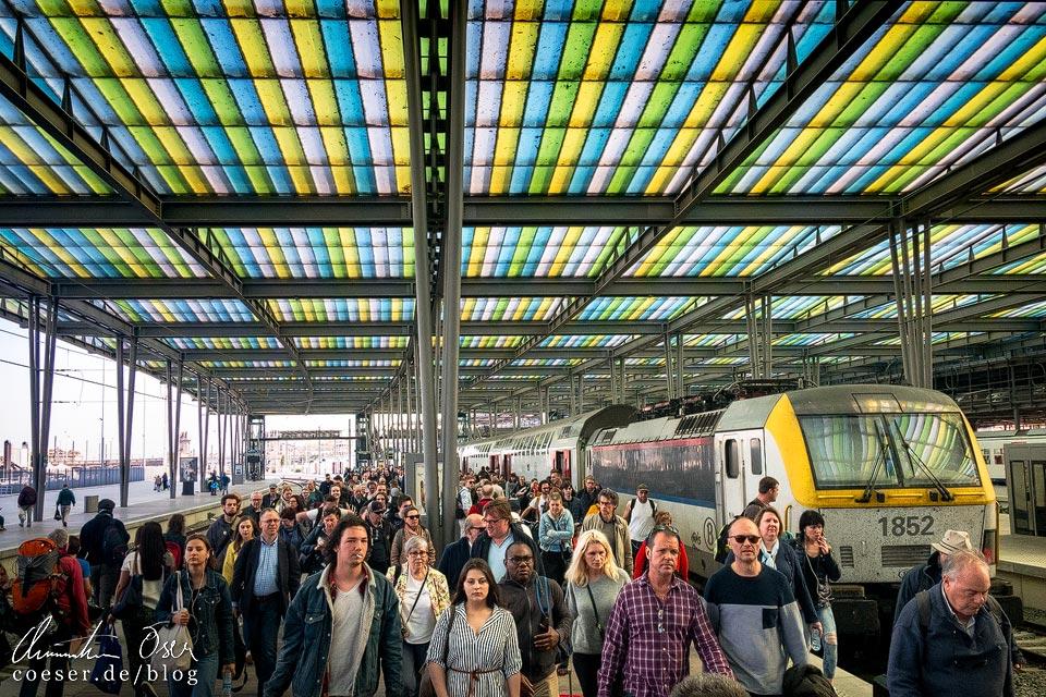 Kopfbahnhof von Oostende in Belgien