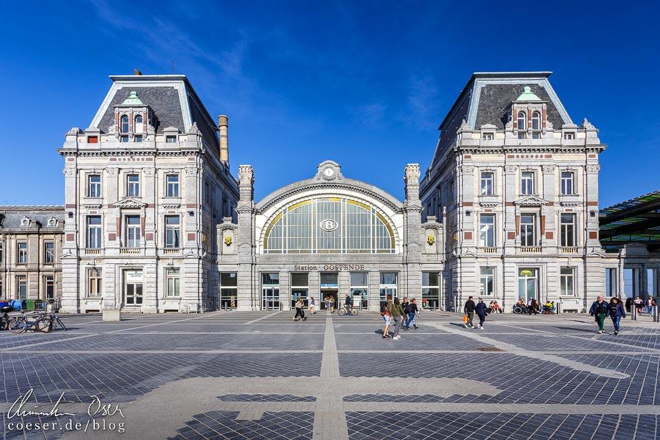 Bahnhofsgebäude von Oostende in Belgien