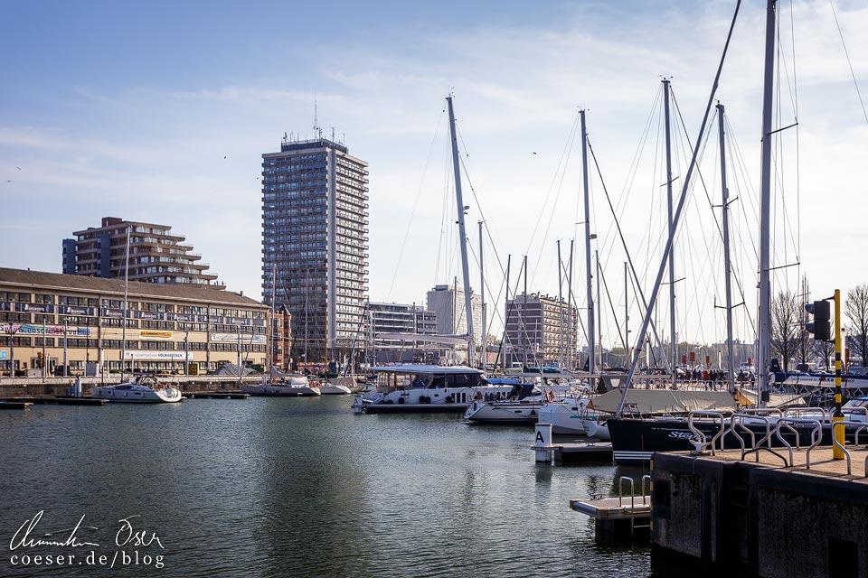 Jachthafen in Ostende in Belgien