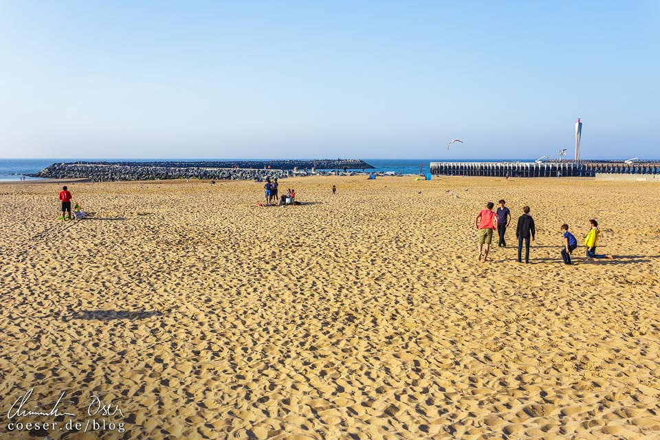 Strand von Oostende in Belgien