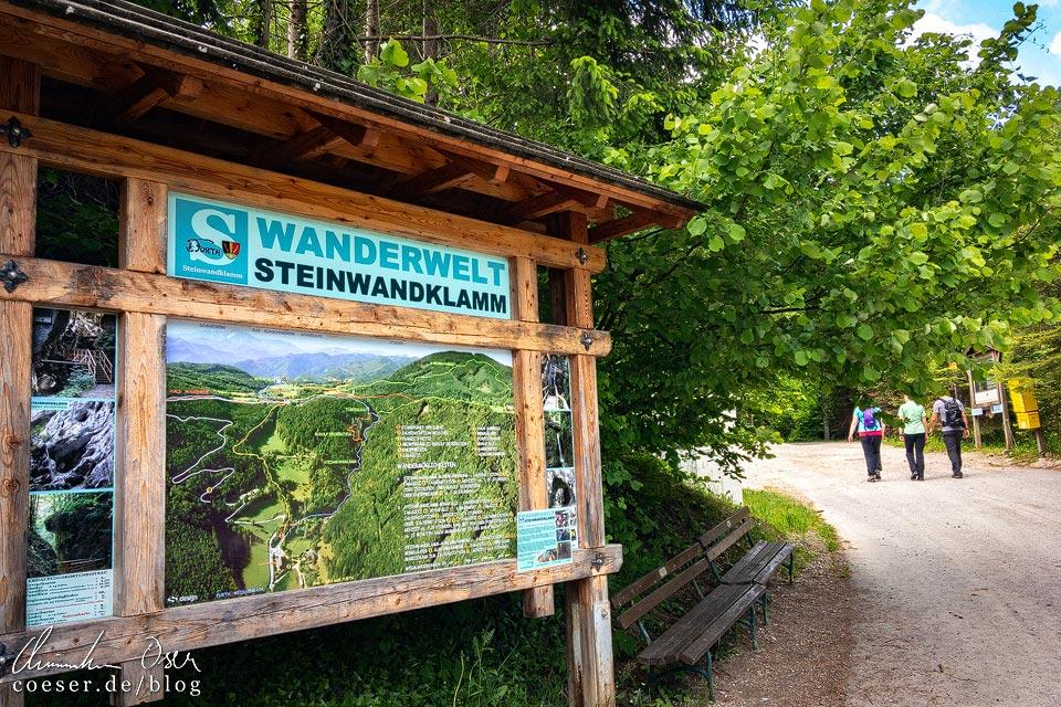 Eingang zur Wanderwelt Steinwandklamm in Niederösterreich