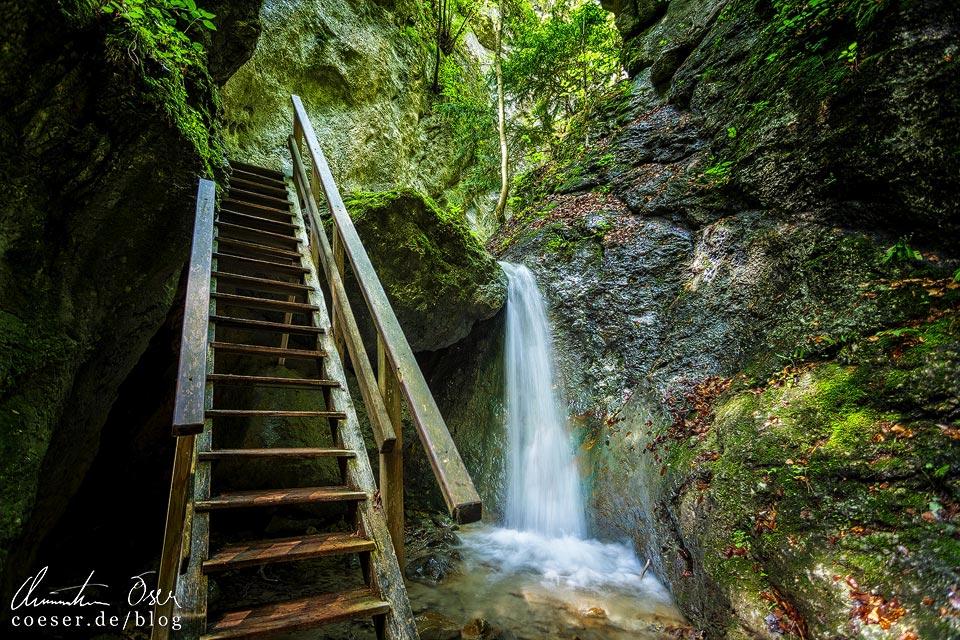 Wasserfall in der Steinwandklamm in Niederösterreich