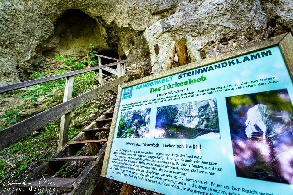 Türkenloch in der Steinwandklamm in Niederösterreich