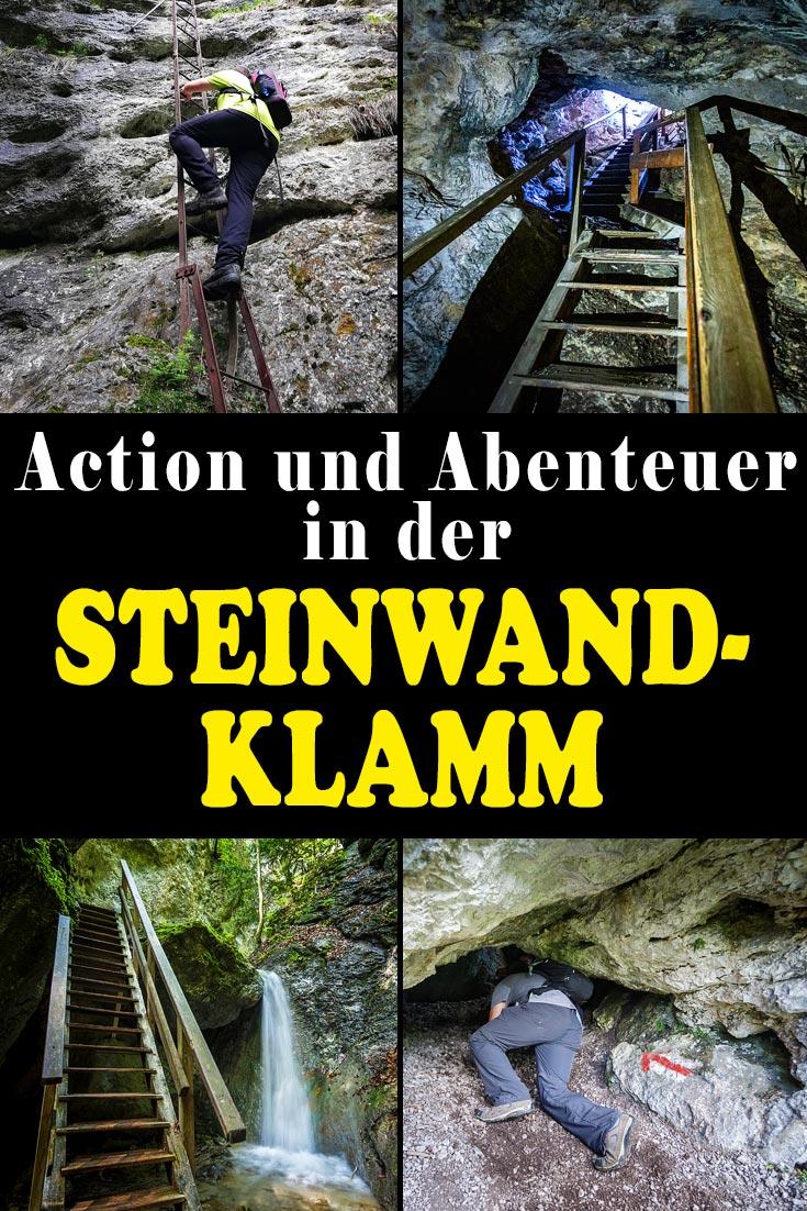 Steinwandklamm in Niederösterreich: Erfahrungsbericht zur abenteuerlichen Wanderung durch die Schlucht mit Rudolf-Decker-Steig und Türkenlochhöhle.