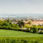 Panorama von Bamberg vom Aussichtspunkt am Altenburger Berg