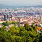 Blick auf Bamberg von der Altenburg aus