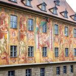 Freskenfassade am Alten Rathaus in Bamberg