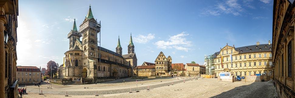 Panorama vom Bamberger Dom und Domplatz