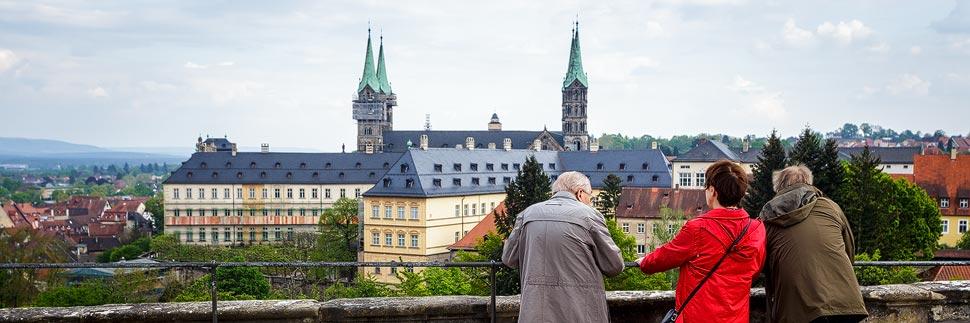 Blick vom Kloster Michelsberg auf den Bamberger Dom
