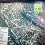 Übersichtsplan des Gärtnerstadt-Rundwegs in Bamberg