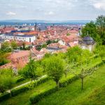 Blick auf Bamberg vom Kloster Michelsberg aus