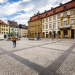 Historische Gebäude auf dem Maxplatz in Bamberg