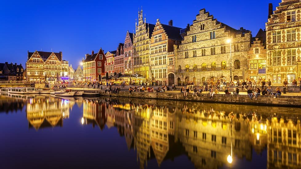 Nachtaufnahme von Gent
