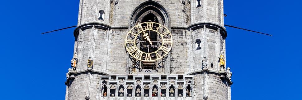 Detailaufnahme des Belfrieds von Gent