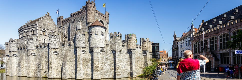 Wasserburg Gravensteen in Gent