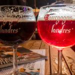 Zwei Brügger Biere Bourgogne des Flandres im Lokal Bier Central in Gent
