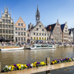 Die Uferterrassen Graslei und Korenlei in Gent