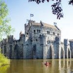 Die Wasserburg Gravensteen in Gent