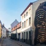 Ein Mural in den Straßen von Gent