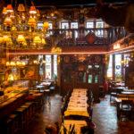 Innenansicht des Restaurants Sint-Jorishof in Gent